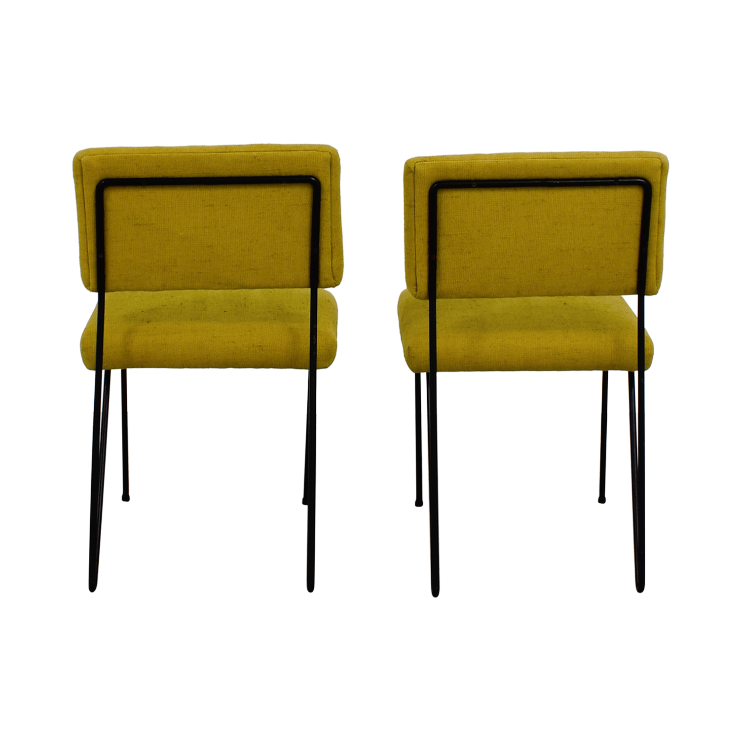 Furniture Masters Furniture Masters Green Fabric and Metal Chairs used