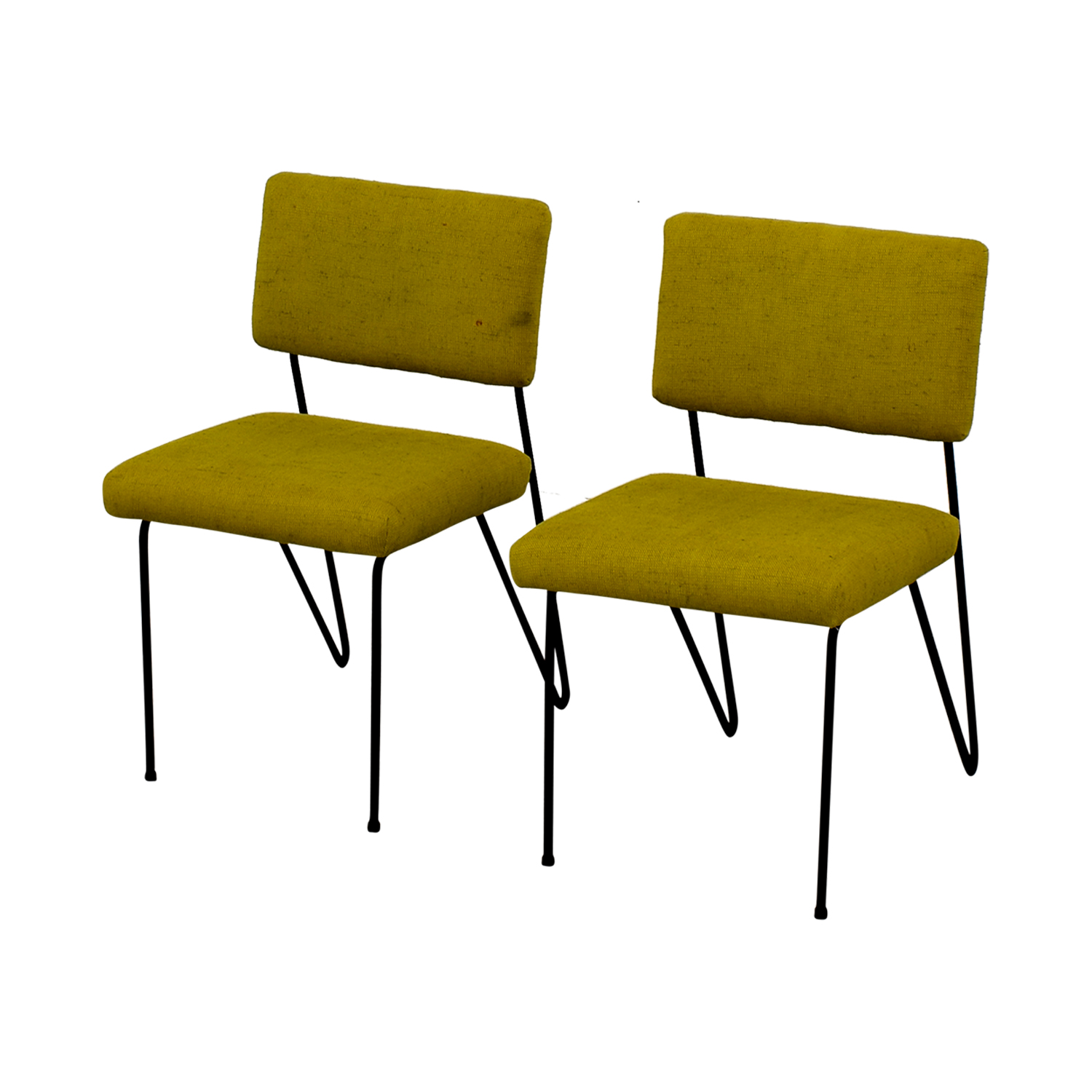 Furniture Masters Furniture Masters Green Fabric and Metal Chairs green