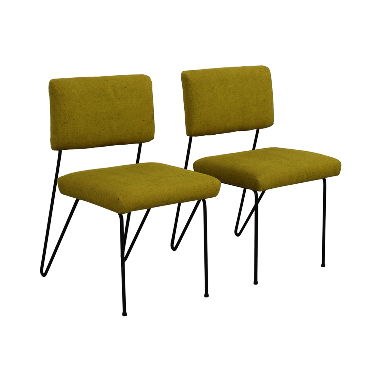Furniture Masters Furniture Masters Green Fabric and Metal Chairs price