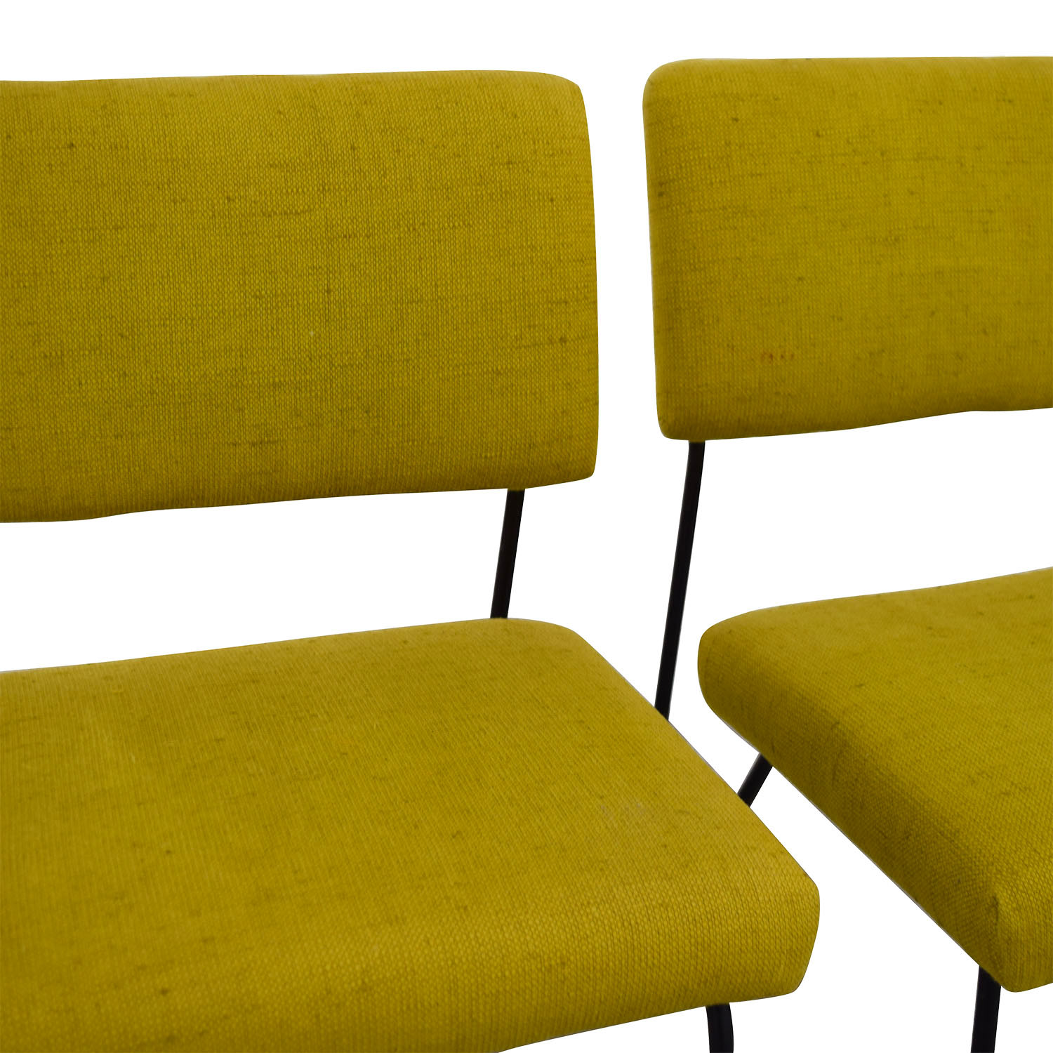Furniture Masters Green Fabric and Metal Chairs / Chairs