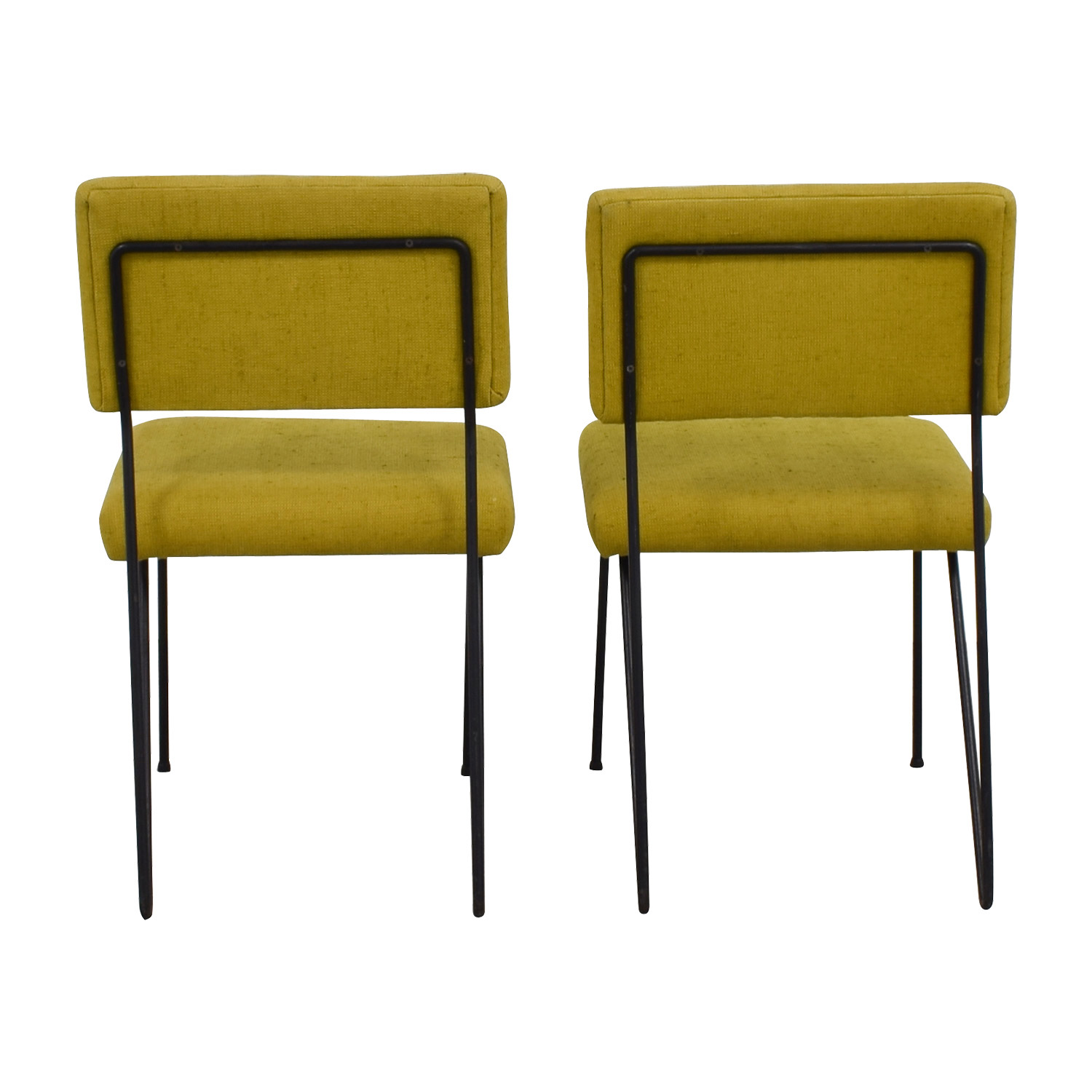 Furniture Masters Furniture Masters Green Fabric and Metal Chairs nj