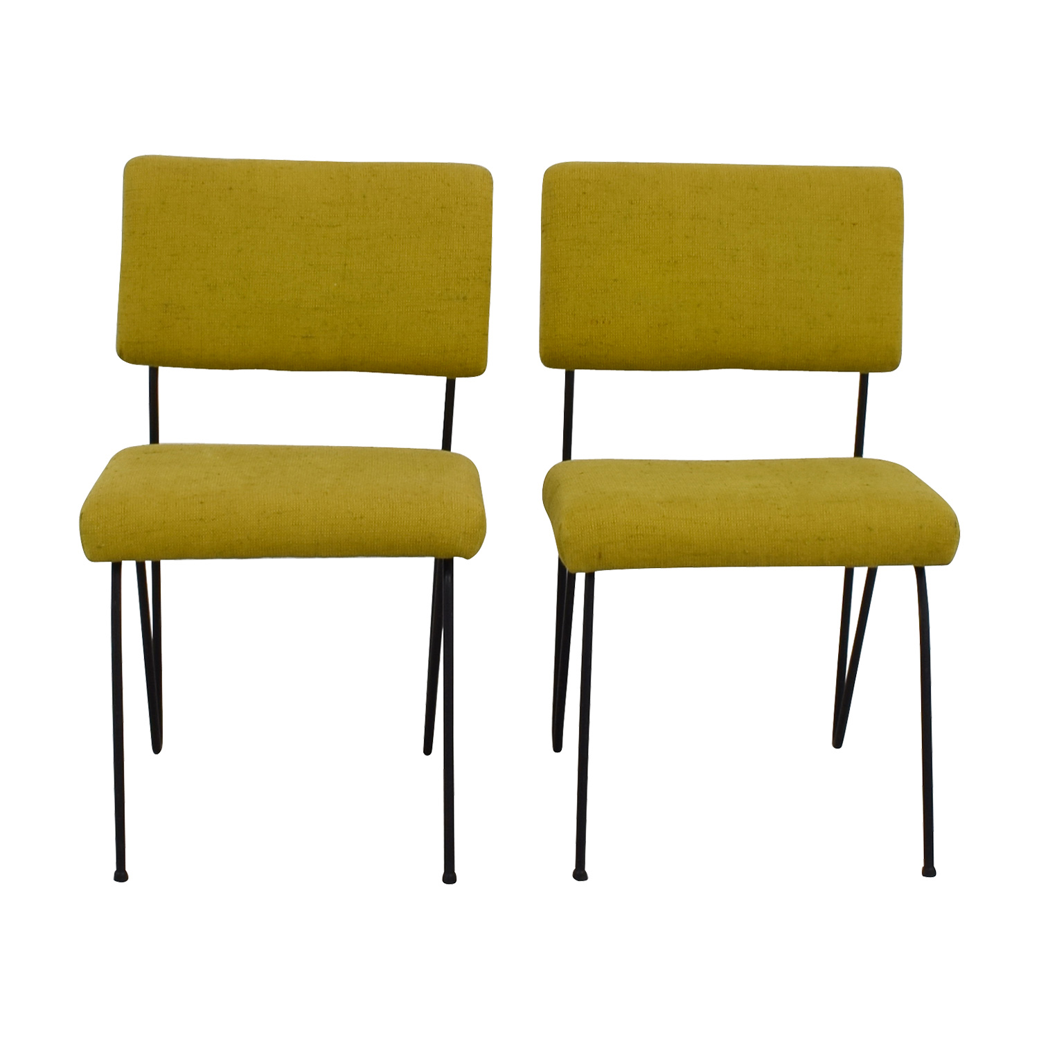 Furniture Masters Green Fabric and Metal Chairs sale