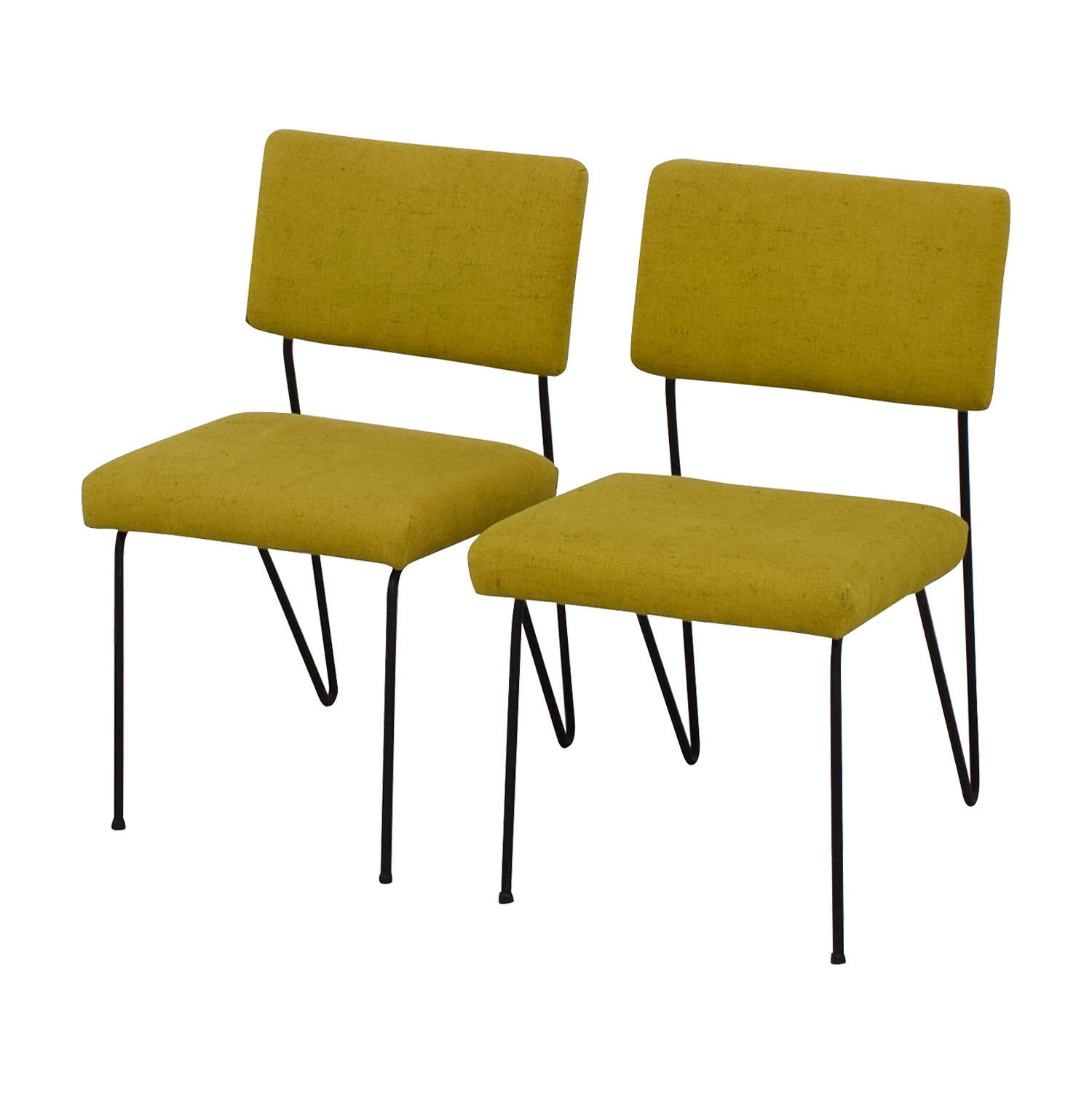 Furniture Masters Furniture Masters Green Fabric and Metal Chairs on sale