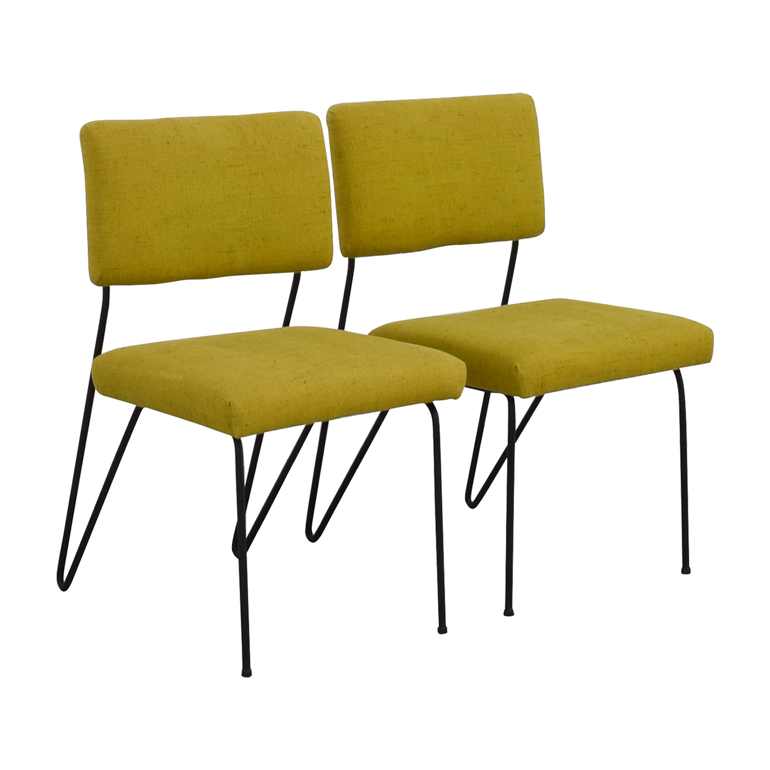 Furniture Masters Furniture Masters Green Fabric and Metal Chairs nyc