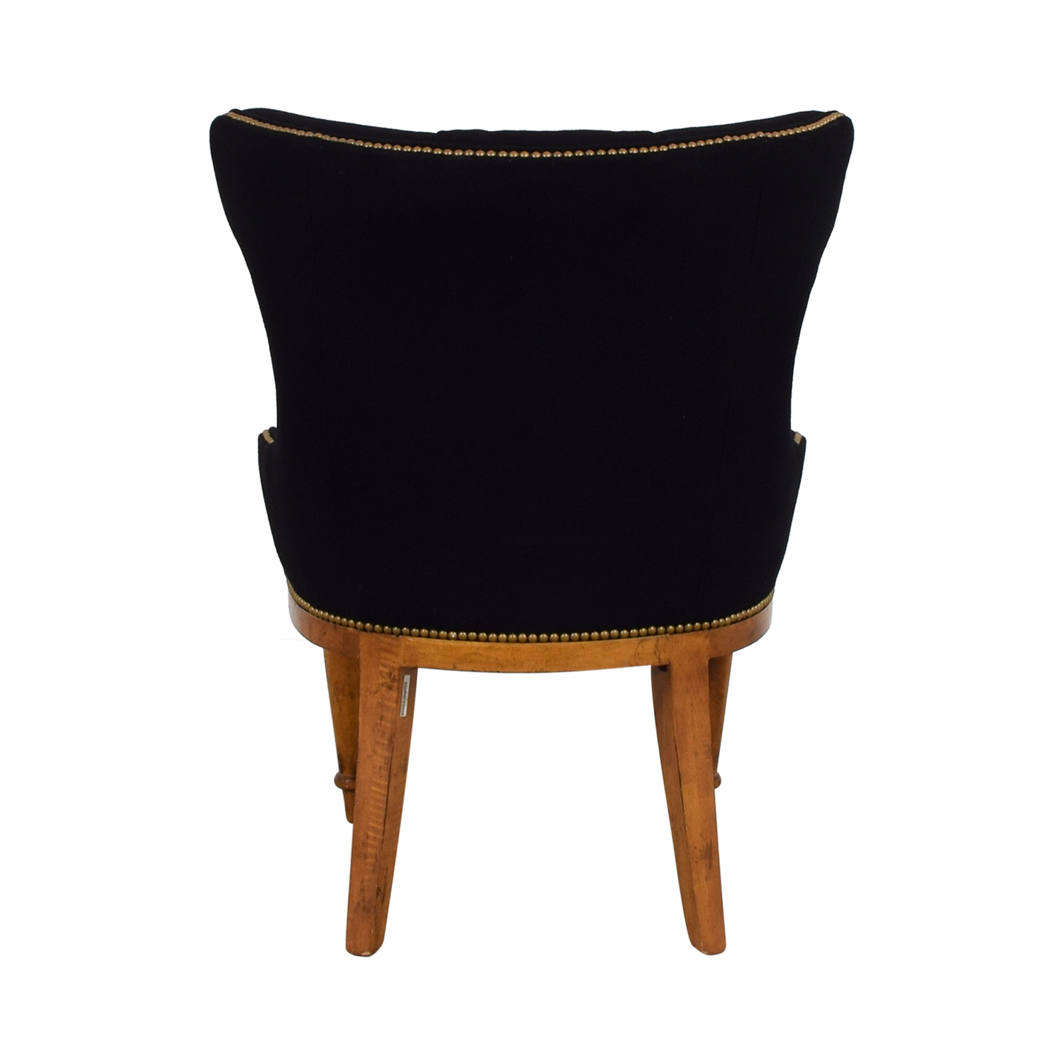 Furniture Masters Furniture Masters Black Tufted Nailhead Accent Chair black