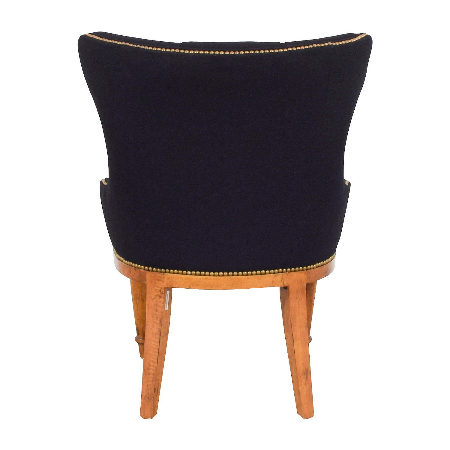 Furniture Masters Furniture Masters Black Tufted Nailhead Accent Chair used