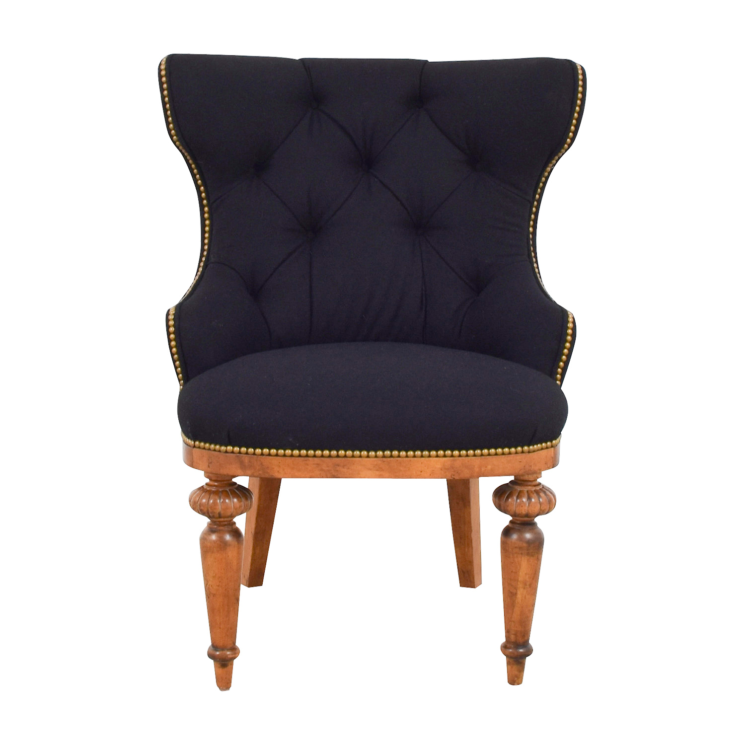 buy Furniture Masters Black Tufted Nailhead Accent Chair Furniture Masters Accent Chairs