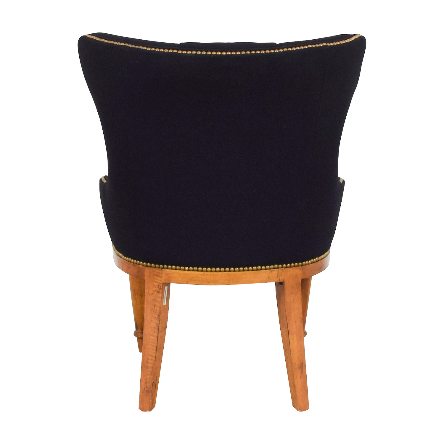 buy Furniture Masters Black Tufted Nailhead and Wood Accent Chair Furniture Masters Chairs