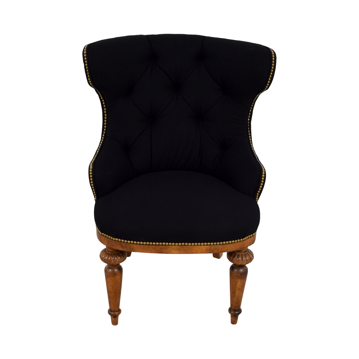 Furniture Masters Furniture Masters Black Tufted Nailhead Accent Chair coupon