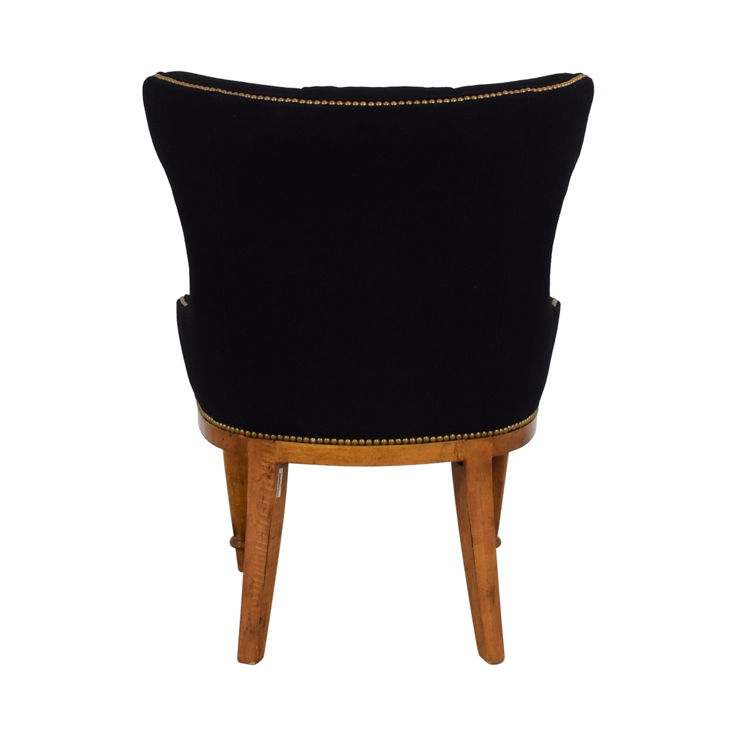 Furniture Masters Furniture Masters Black Tufted Nailhead Accent Chair for sale