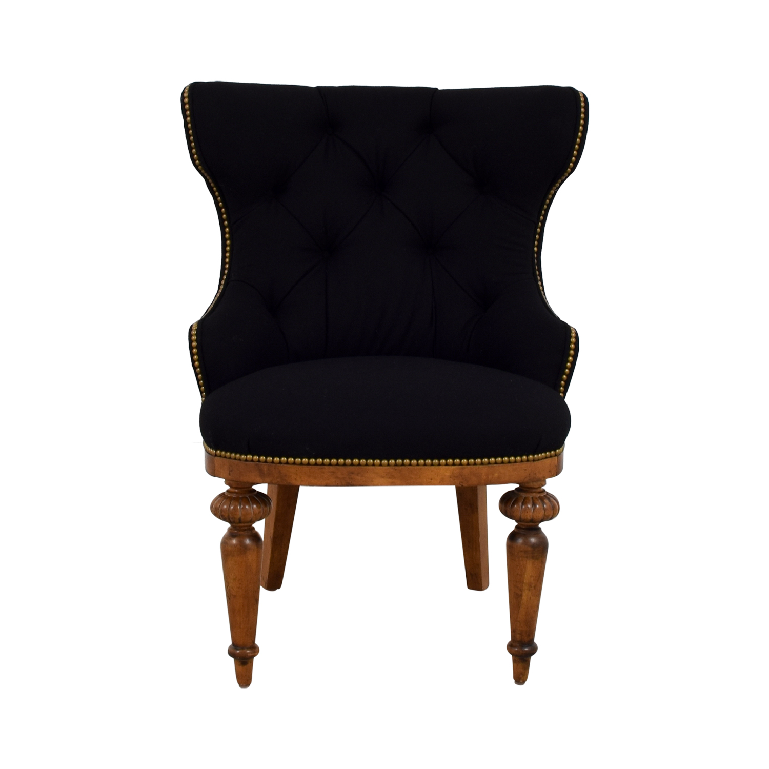 Furniture Masters Black Tufted Nailhead Accent Chair / Accent Chairs