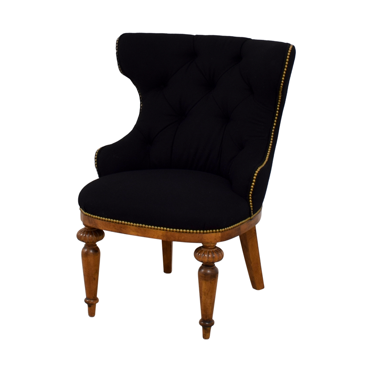 Furniture Masters Furniture Masters Black Tufted Nailhead Accent Chair discount