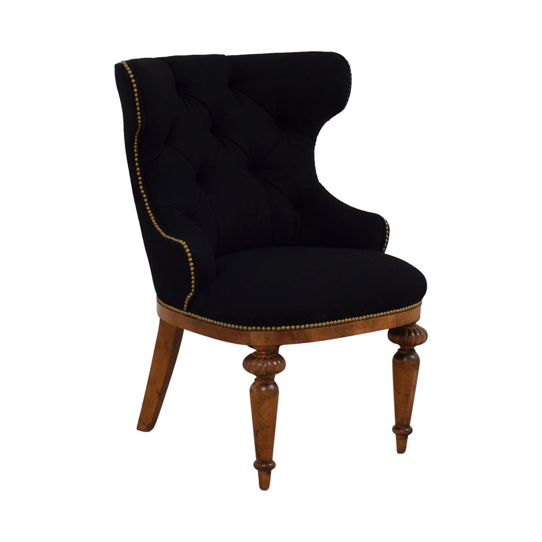 buy Furniture Masters Black Tufted Nailhead Accent Chair Furniture Masters Accent Chairs