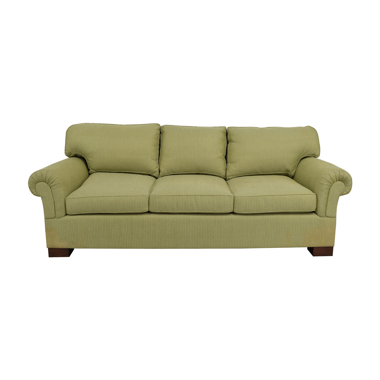 shop Furniture Masters Green Three Seater Sofa Furniture Masters