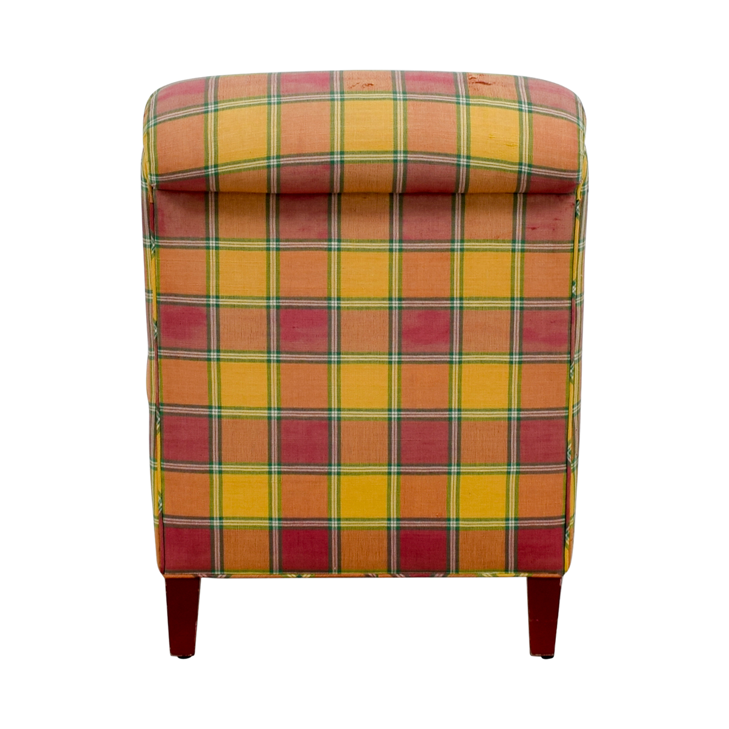Furniture Masters Furniture Masters Red and Yellow Plaid Accent Chair nj