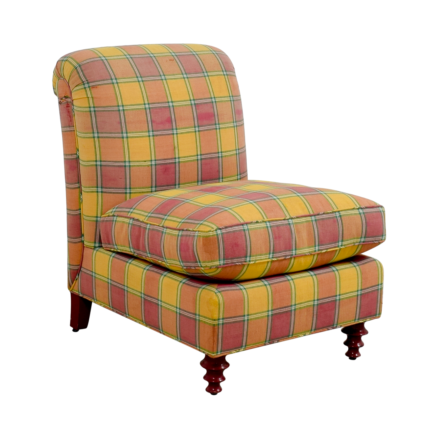 40% OFF Furniture Masters Furniture Masters Red and Yellow Plaid