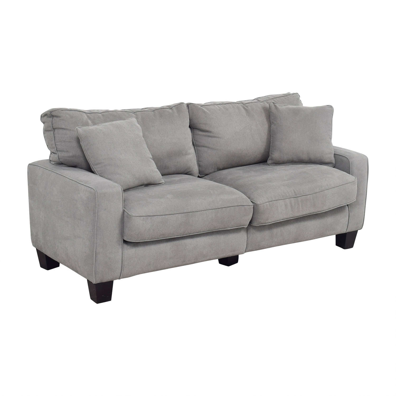 Serta Serta Grey Loveseat with Toss Pillows for sale