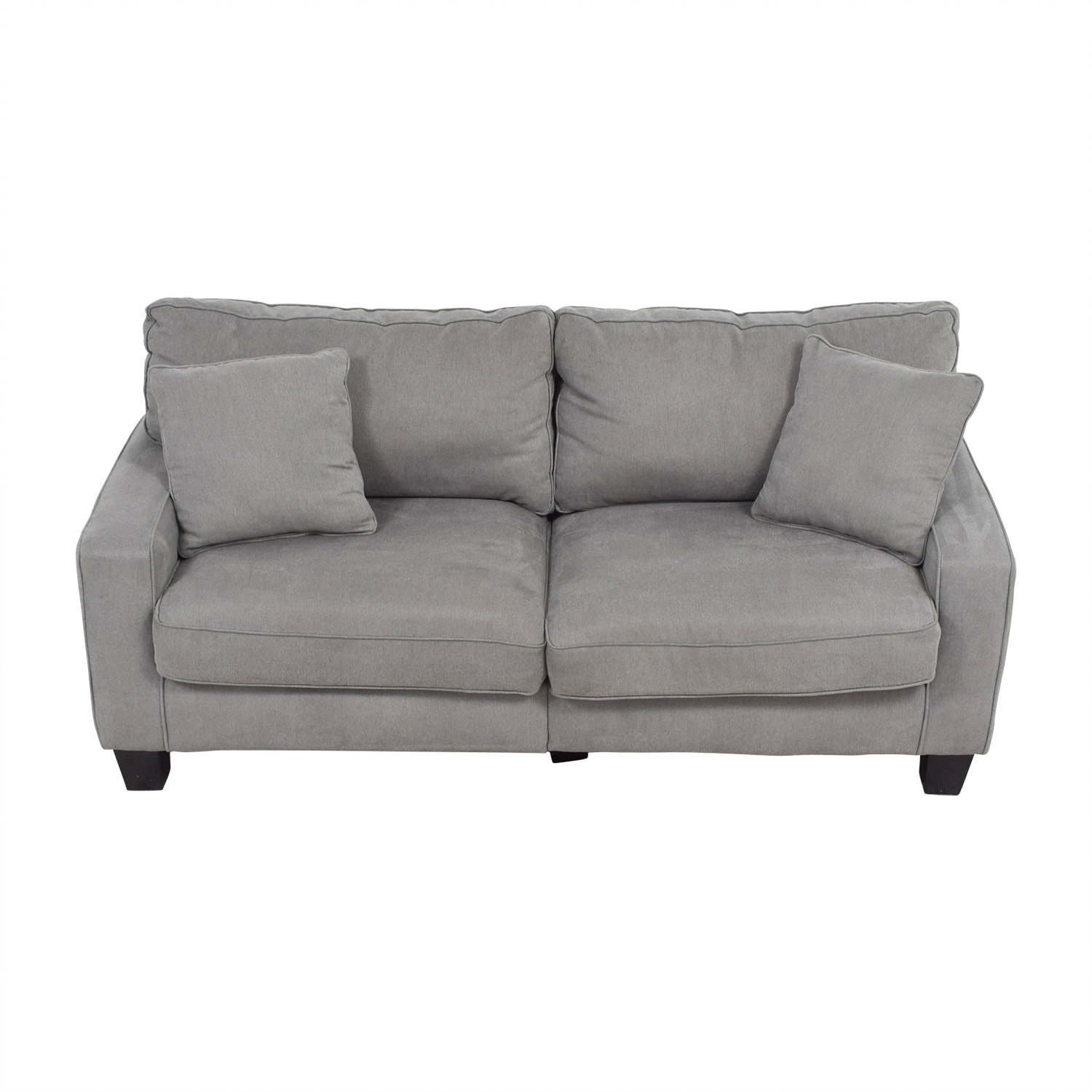 buy Serta Serta Grey Loveseat with Toss Pillows online