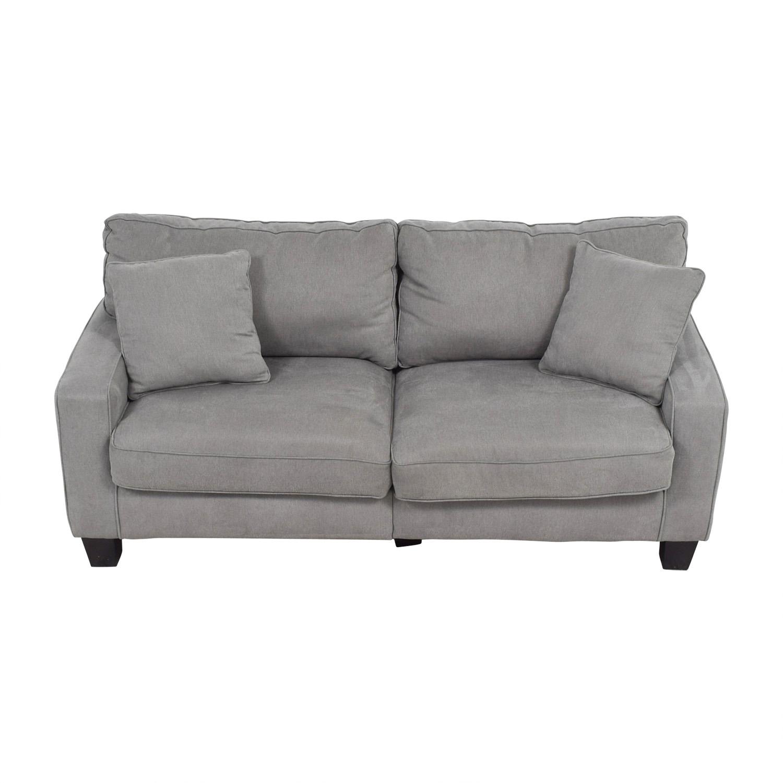 Serta Serta Grey Loveseat with Toss Pillows Loveseats