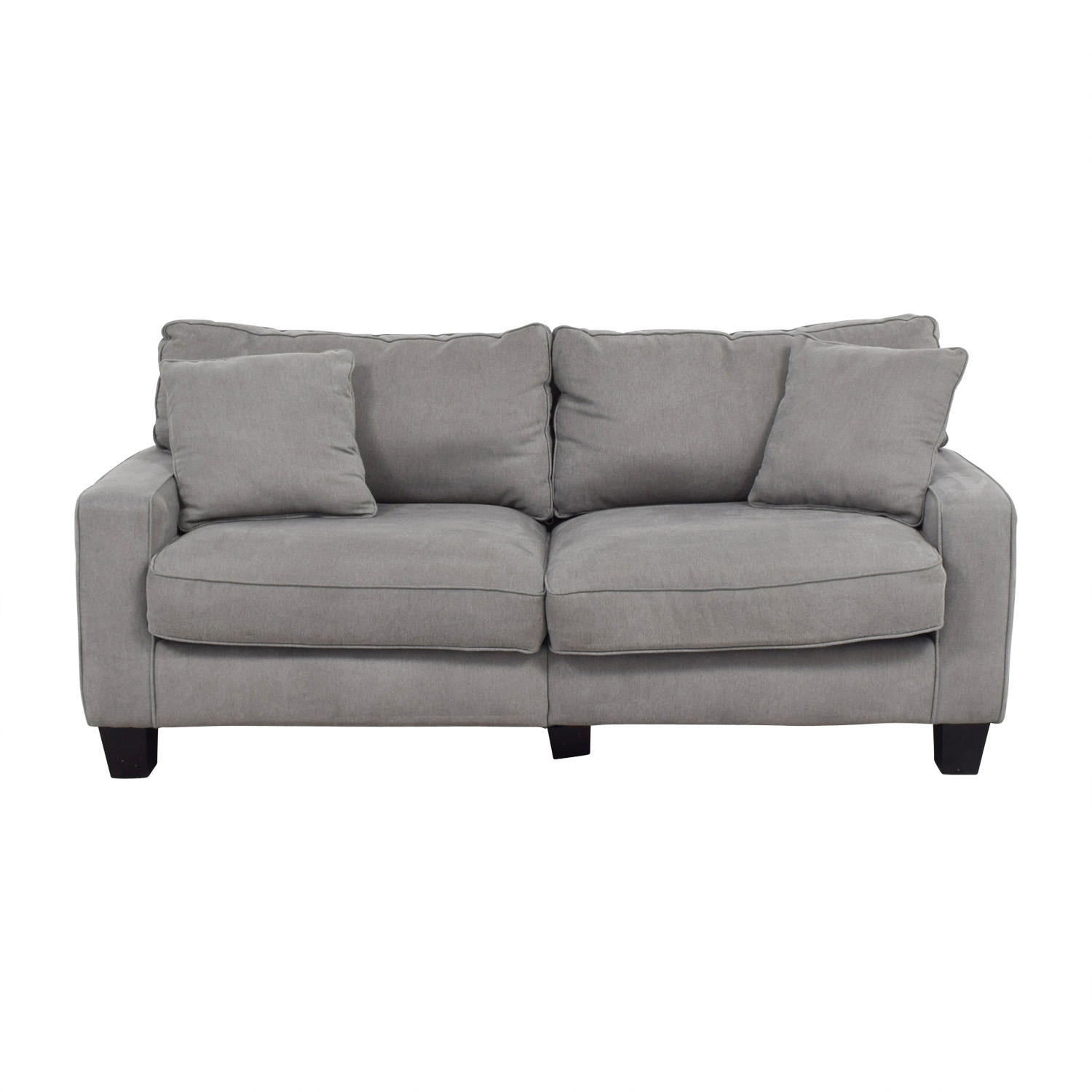 Serta Serta Grey Loveseat with Toss Pillows discount
