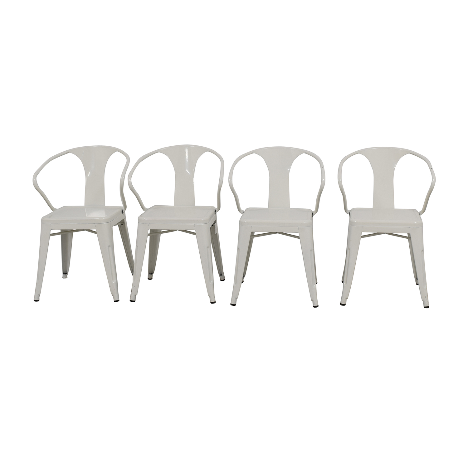 Overstock Overstock White European Chairs Used ...