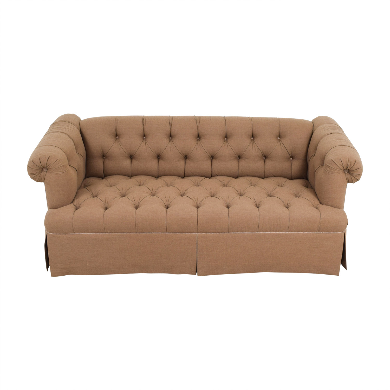 Furniture Masters Furniture Masters Custom Brown Tufted Sofa Sofas