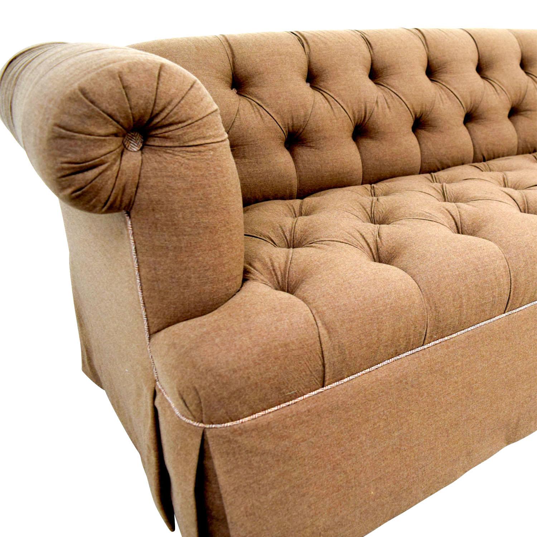 Furniture Masters Furniture Masters Custom Brown Tufted Sofa nj