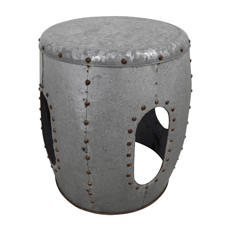 Metal Ottoman Foot Stool Ottomans