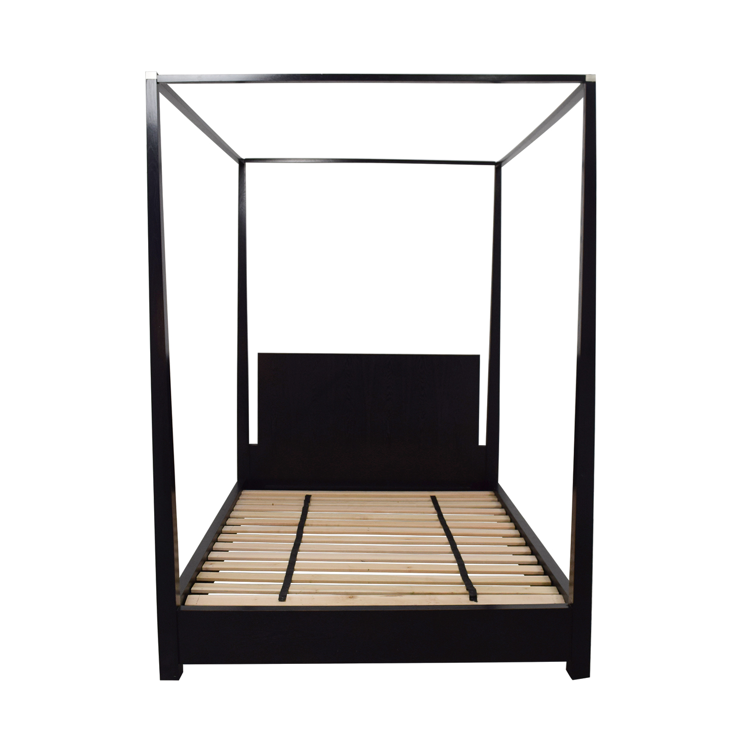 buy Calvin Klein Queen Four Poster Black Platform Canopy Bed Calvin Klein Beds