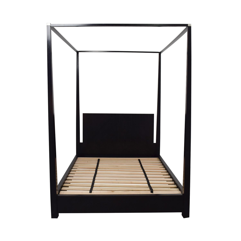 shop Calvin Klein Calvin Klein Queen Four Poster Black Platform Canopy Bed online