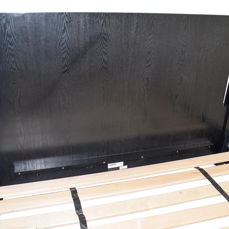 Calvin Klein Queen Four Poster Black Platform Canopy Bed Calvin Klein