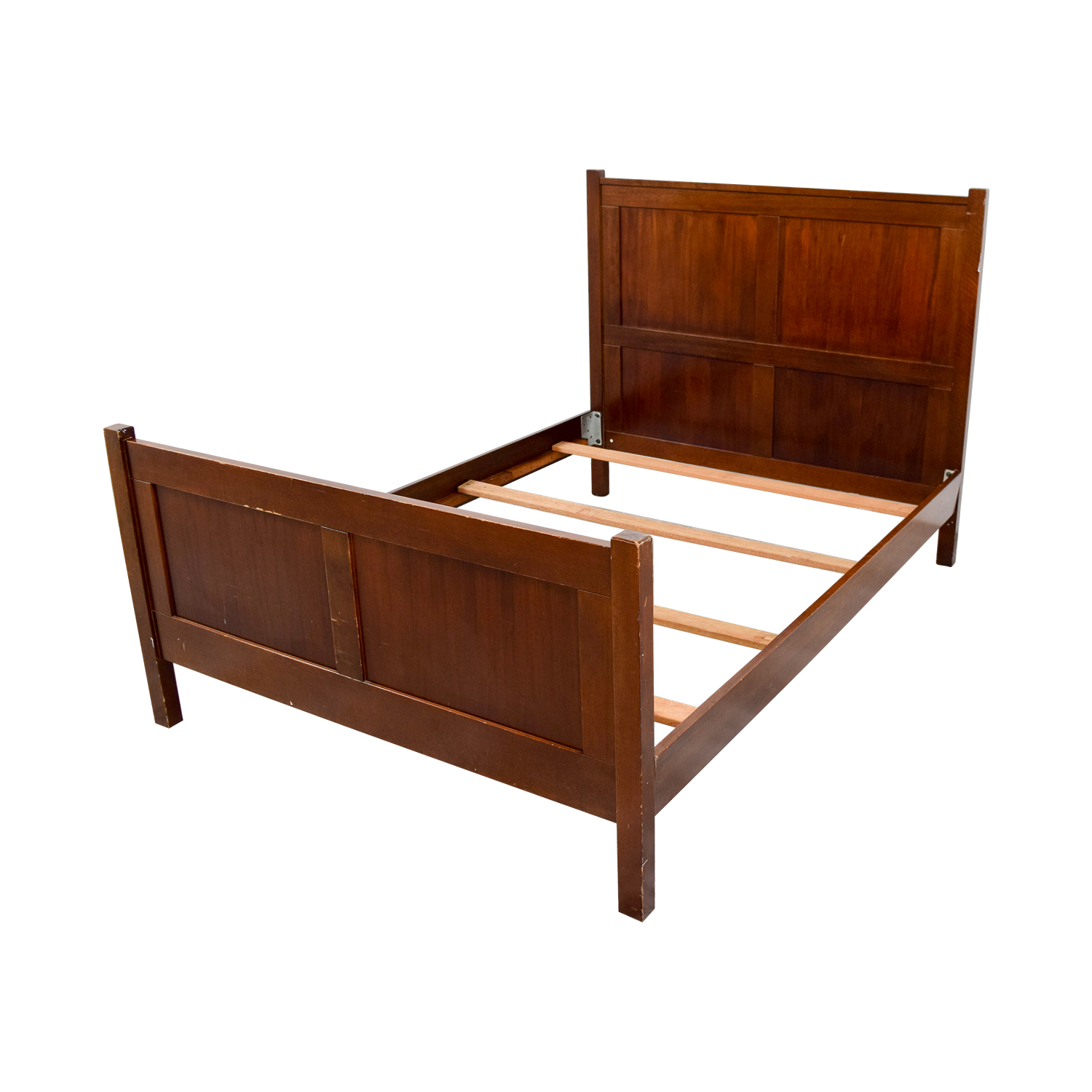 90 off pottery barn pottery barn wood full bed frame beds for Used wooden bed frames