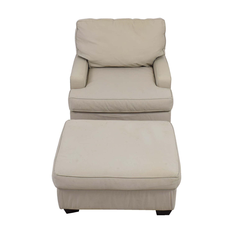 buy Pottery Barn Buckwheat Sofa Chair and Ottoman Pottery Barn