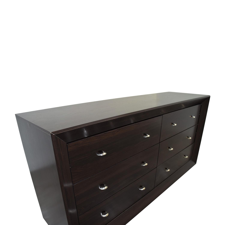 Black Sheen Six-Drawer Dresser on sale
