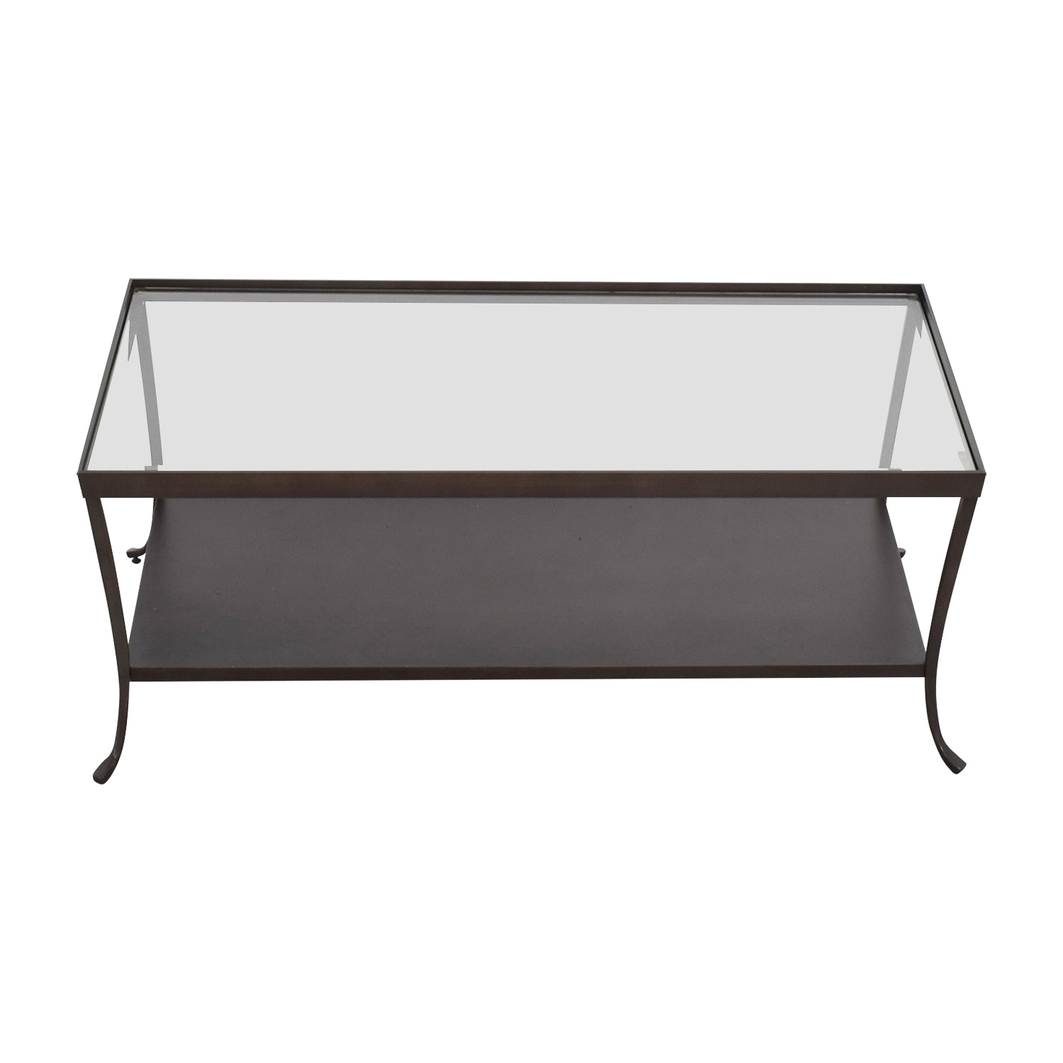 shop Glass Top Coffee Table with Metal Base
