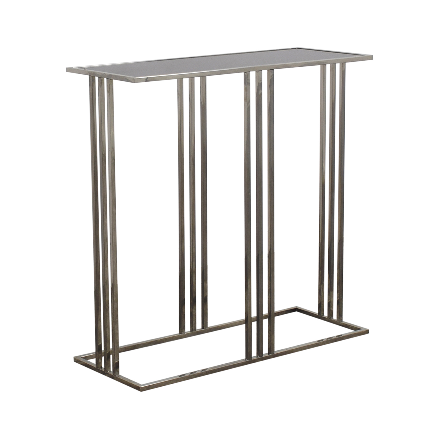 buy HomeGoods Black and Silver Entryway Table HomeGoods Tables