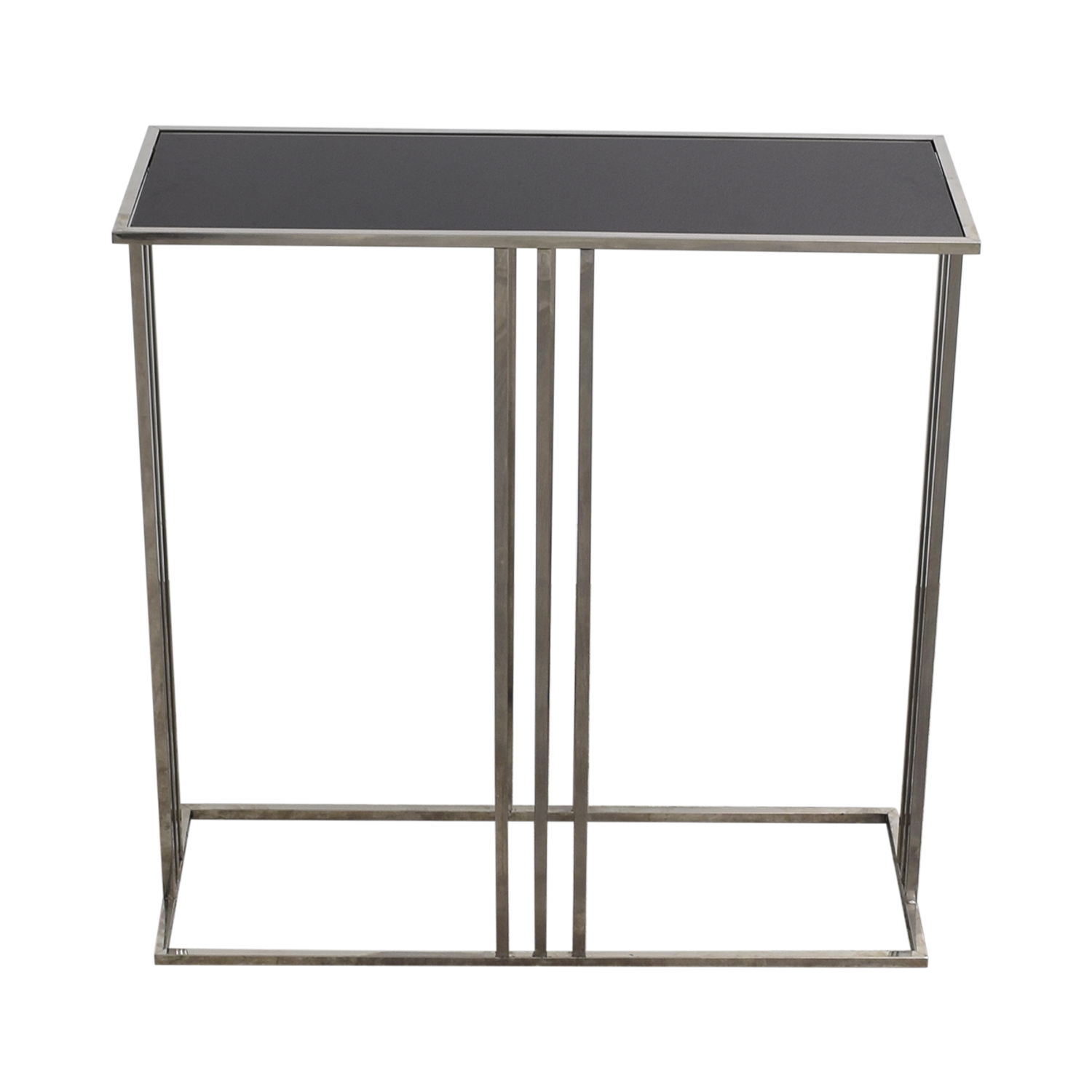 shop HomeGoods Black and Silver Entryway Table HomeGoods Utility Tables