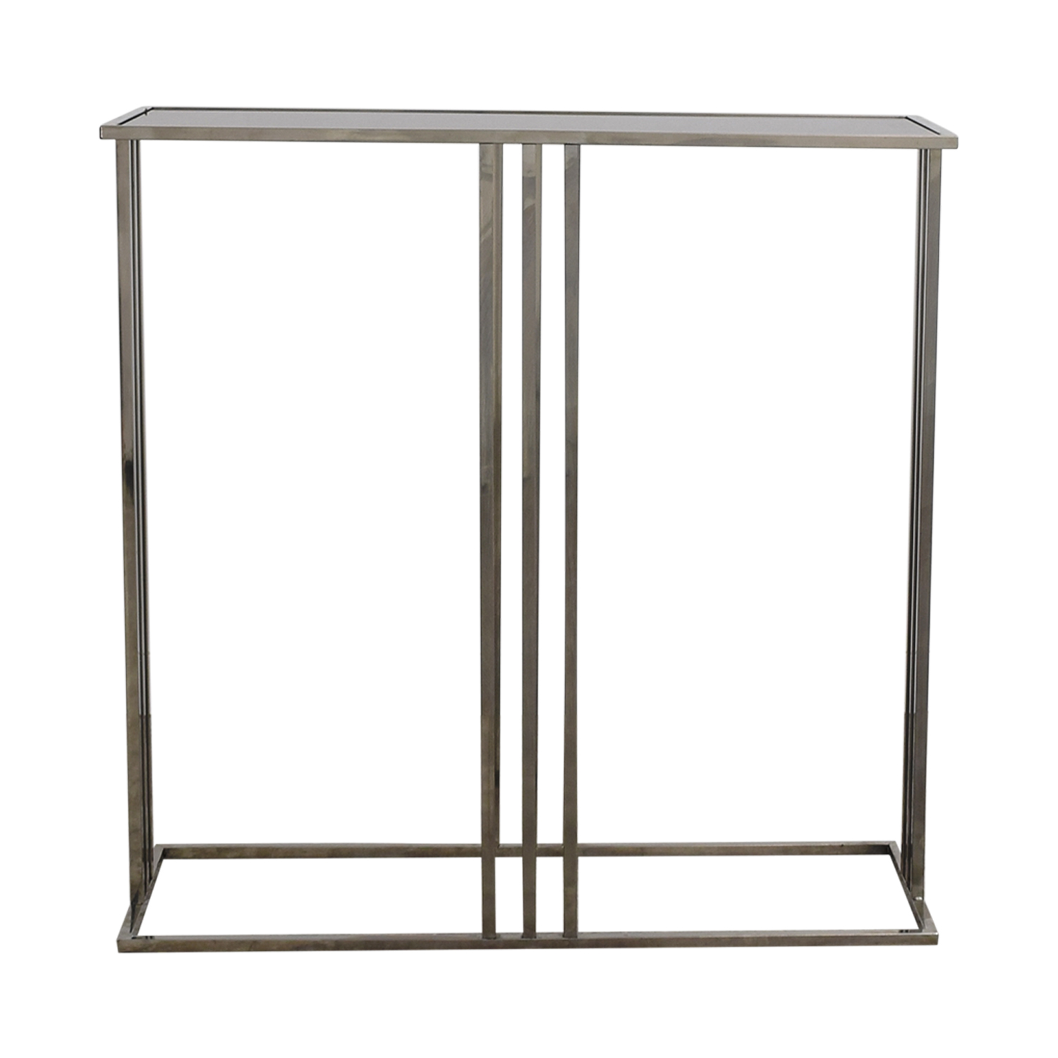 HomeGoods Black and Silver Entryway Table / Tables