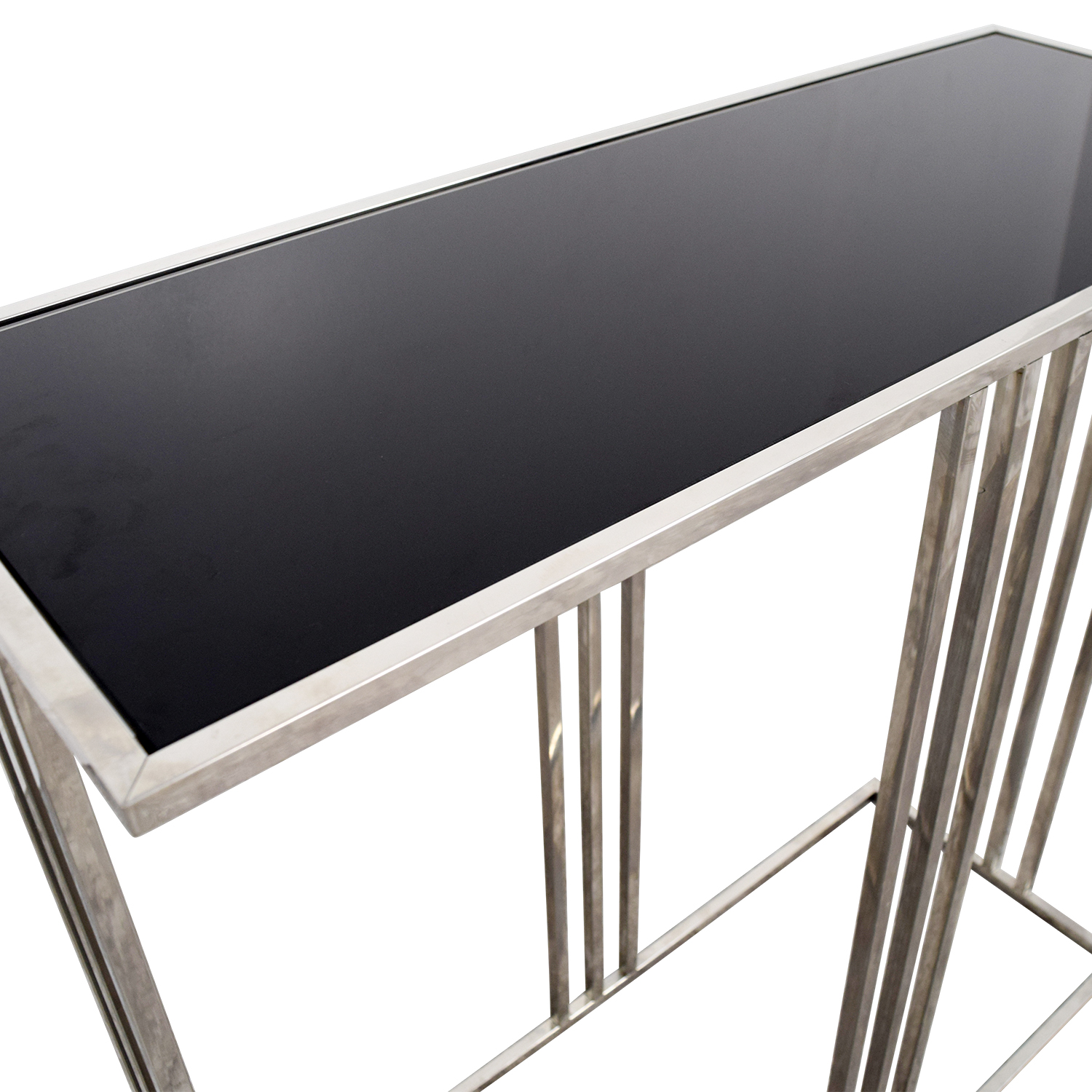 HomeGoods HomeGoods Black and Silver Entryway Table discount