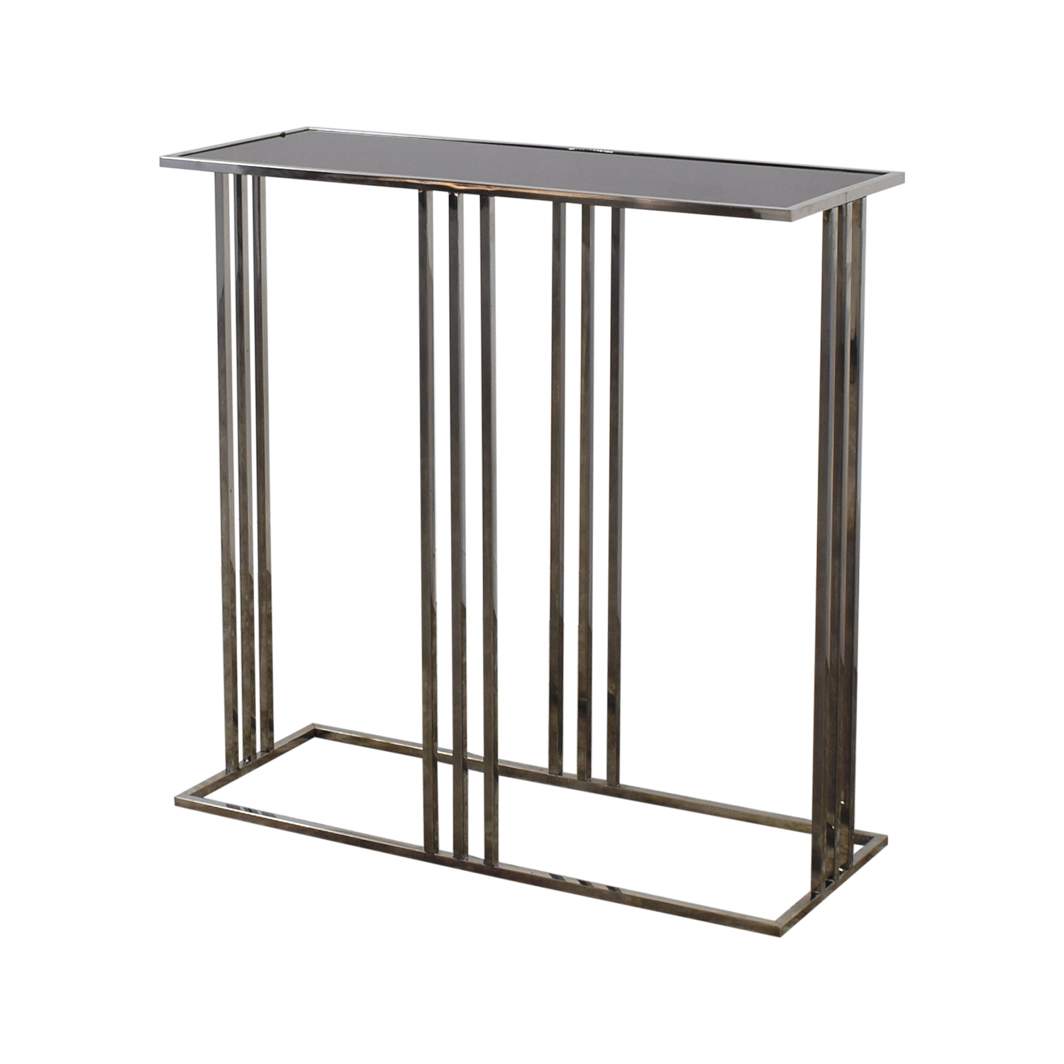 HomeGoods Black and Silver Entryway Table / Utility Tables