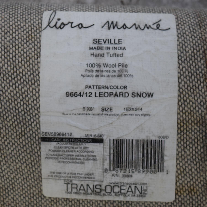 shop Liora Manne Seville Leopard Snow Animal Print Rug Liora Manne Rugs