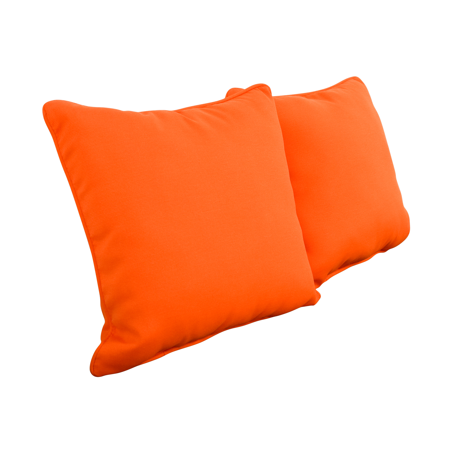 Pillow Perfect Pillow Perfect Sundeck Corded Orange Throw Pillows coupon