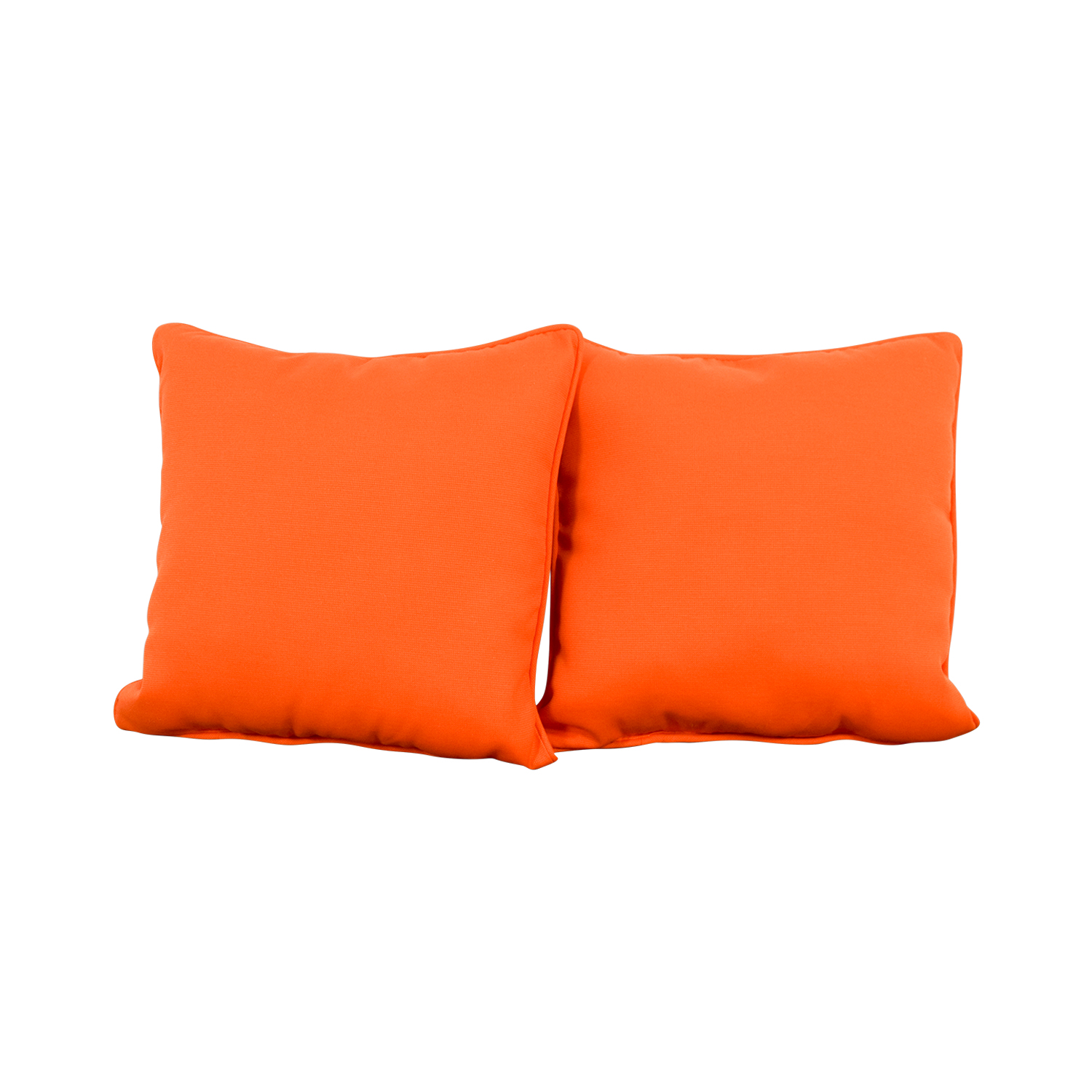 Pillow Perfect Pillow Perfect Sundeck Corded Orange Throw Pillows second hand