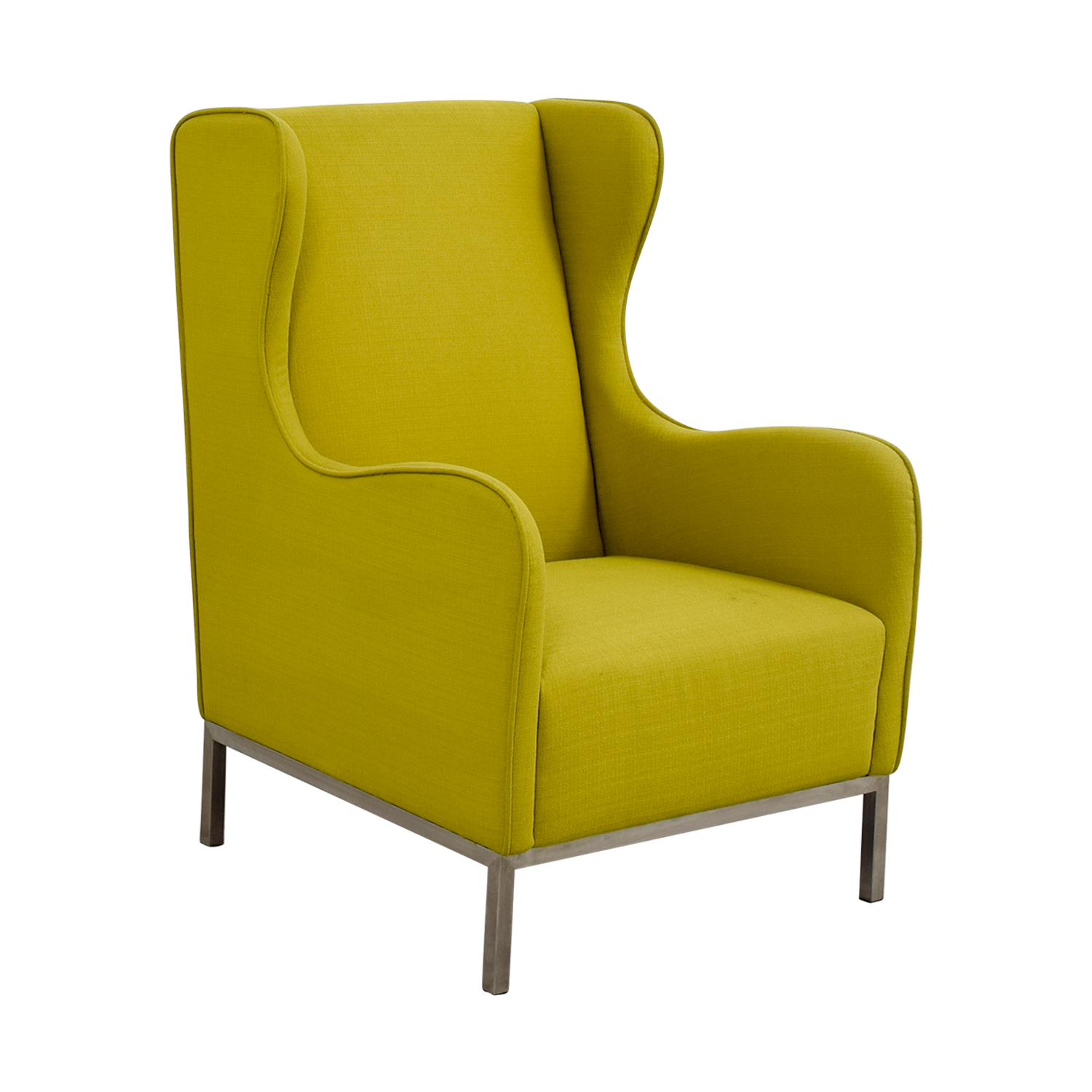 Crate and Barrel Crate and Barrel Neon Green Accent Chair second hand