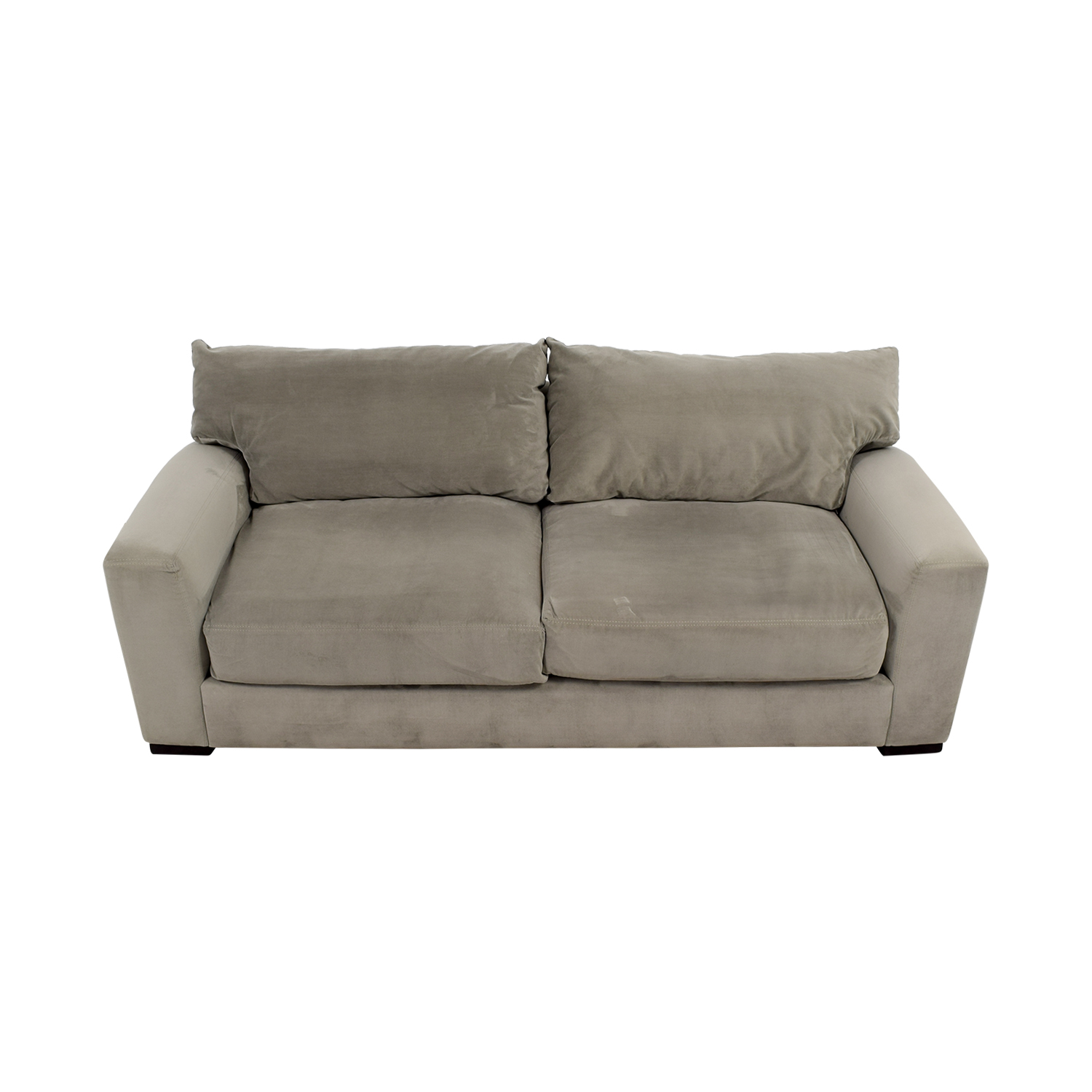 buy Raymour and Flanigan Grey Carlin Microfiber Sofa Raymour and Flanigan Classic Sofas