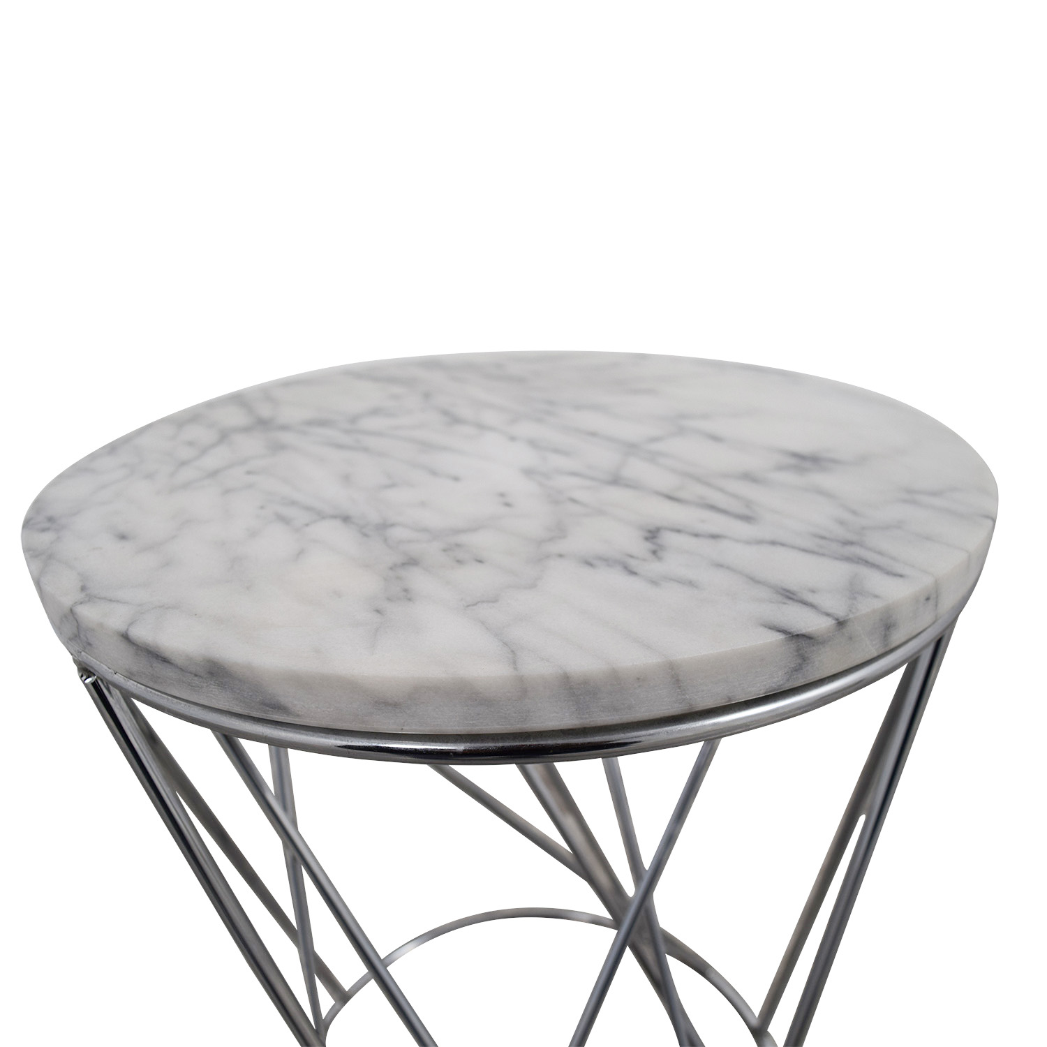 West Elm Carera Marble Side Table / Tables
