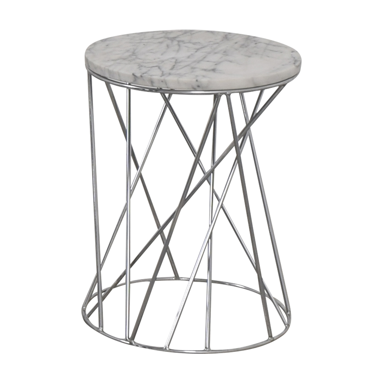 buy West Elm Carera Marble Side Table West Elm End Tables