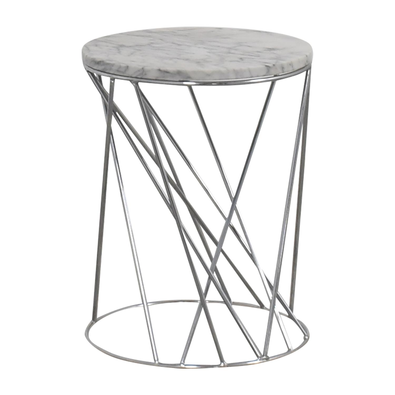 West Elm West Elm Carera Marble Side Table on sale
