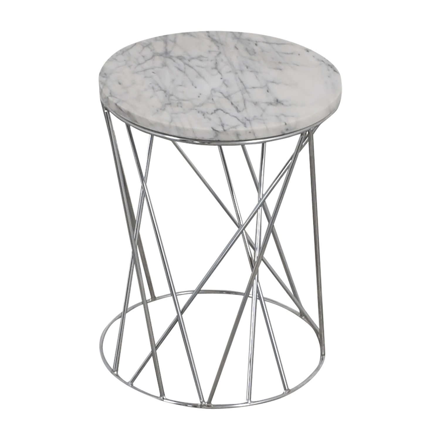 West Elm West Elm Carera Marble Side Table discount