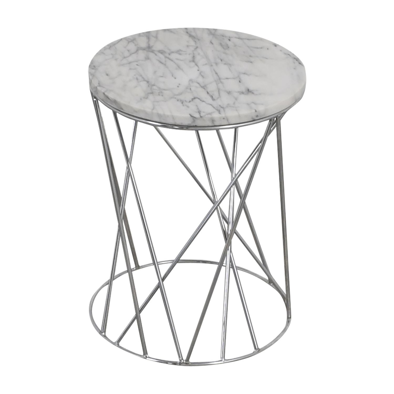 West Elm West Elm Carera Marble Side Table used